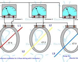 3 Phase Current Transformer Wiring Diagram Current Transformer Transformer Wiring Electrical Circuit Diagram