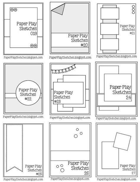 Paper Play Sketches 2019 Pause Dream Enjoy: Janis' Card Sketches The post Paper Play Sketches 2019 appeared first on Scrapbook Diy. Card Making Templates, Card Making Tips, Card Making Techniques, Making Ideas, Paper Templates, Scrapbook Sketches, Card Sketches, Scrapbook Cards, Project Life