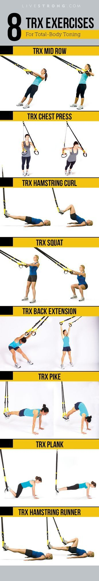 You May Have Seen Those Black And Yellow Straps Hanging From The Ceiling At Your Gym And Wondered How The Heck To Use Th Trx Workouts Fitness Body Trx Training