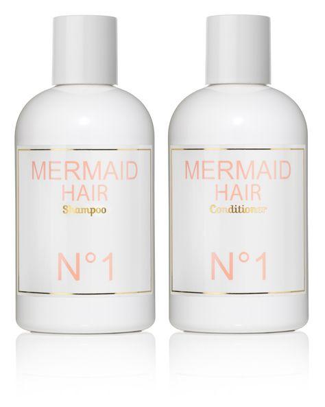 mermaid hair shampoo & conditioner. for gorgeous hair that smells like the beach.