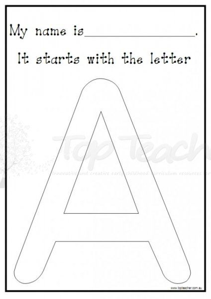 Decorate the letter your name starts with