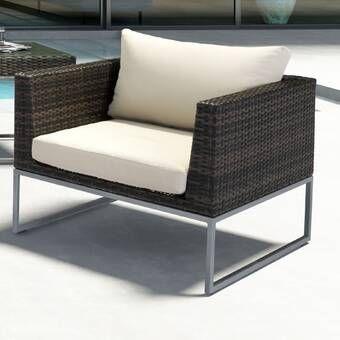 Brayden Studio Hibbard Corner Chair With Cushion Wayfair