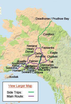 Alaska Highway Map Alaska Bucket List Pinterest Highway map
