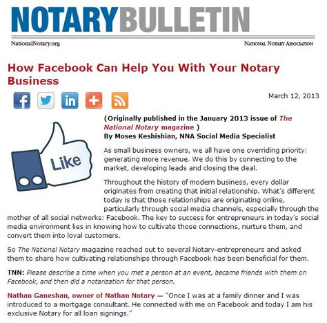 How Facebook Can Help You With Your Notary Business