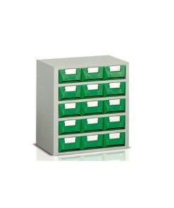 Cassettiere In Plastica Per Minuterie.Cassettiera Porta Minuteria 15 Cassetti Plastica Verde