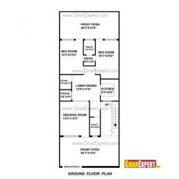 15 X 60 House Plan Map Luxury House Plan For 20 Feet By 45 Feet Plot House Plan In 20 60 Plot Luxury House Plans Indian House Plans House Map