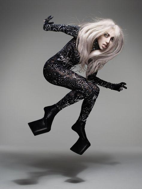 Nick Knight shoots Gaga for Vanity Fair.