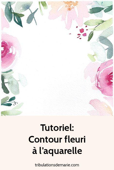 Tutoriel Composition Fleurie Aquarelle Tutoriel Fleurs