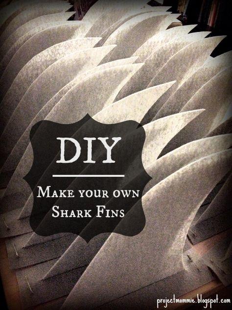 PDF Shark Fin Tutorial: How to Make Shark Fins for a Shark Party