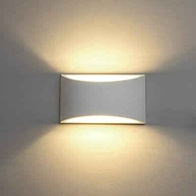 Sobrovo Modern Led Wall Sconce Lighting Fixture Lamps 7w Warm White 2700k Up And Down Plaster Indoor Wall Moun In 2020 Led Wall Lights Wall Lights Wall Sconce Lighting