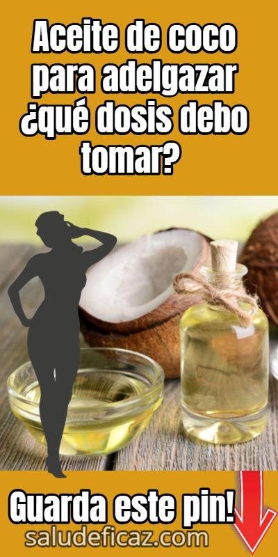 como tomar el aceite de coco para adelgazar