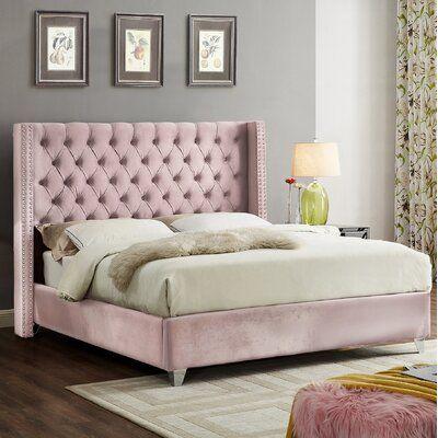 Upholstered Beds Platform, Pink Upholstered Bed Frame