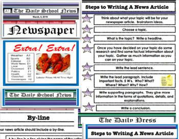 Newspaper Writing A News Article Pdf Lesson 29 Pages Newspaper