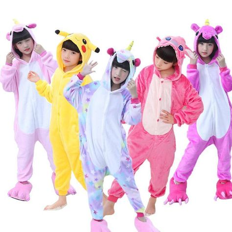 09caef6d54 Kids Pajamas Flannel Animal Unicorn Pikachu Stitch Costume Cosplay Winter  Cute C  fashion  clothing  shoes  accessories  kidsclothingshoesaccs ...
