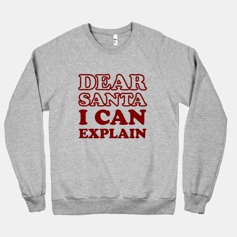 Dear Santa I Can Explain Baseball Tee Lookhuman Awesome T Shirts