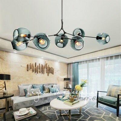 Details about LED Modern Nordic Ceiling Lights Molecular Glass Pendant Light Chandeliers Lamp