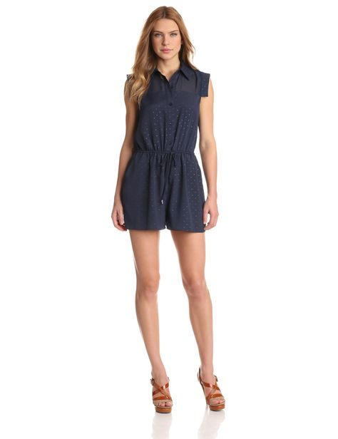 BCBGeneration Womens Cont Collar Romper