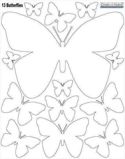 Uzyj Strzalek Na Klawiaturze Do Przelaczania Zdjec Paper Butterflies Butterfly Crafts Butterfly Template