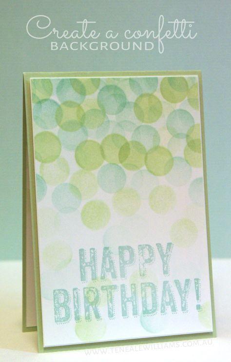 Create a Confetti #cardmaking #stampinUp