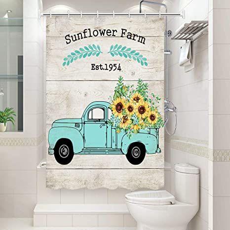 jawo sunflower shower curtain yellow