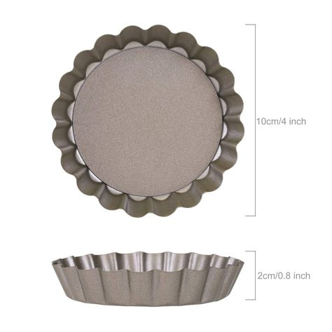 LIHAO 4-Inch Flower Cake Pan, Non-Stick Baking Pan Tray Mold for Home DIY Baking ... (This is an affiliate link) #pastrymolds