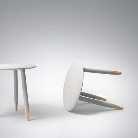 London Designer Samuel Wilkinson Presents A Table With Legs That Are  Sharpened Like Pencils