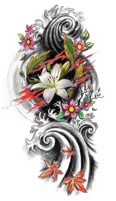 Japanese Flower Sleeve Tattoo Designs Tattoideas Japanese Sleeve Tattoos Japanese Tattoo Tattoo Designs