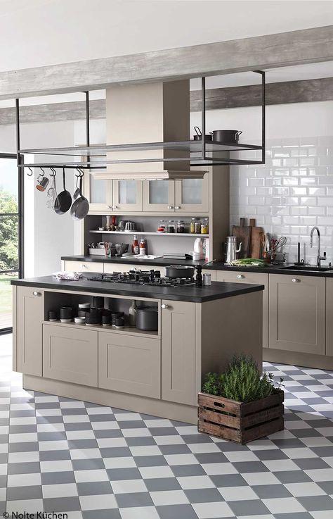 Landelijke keuken Landelijk Cottage Wit Zwart Star Plus - nolte k chen katalog