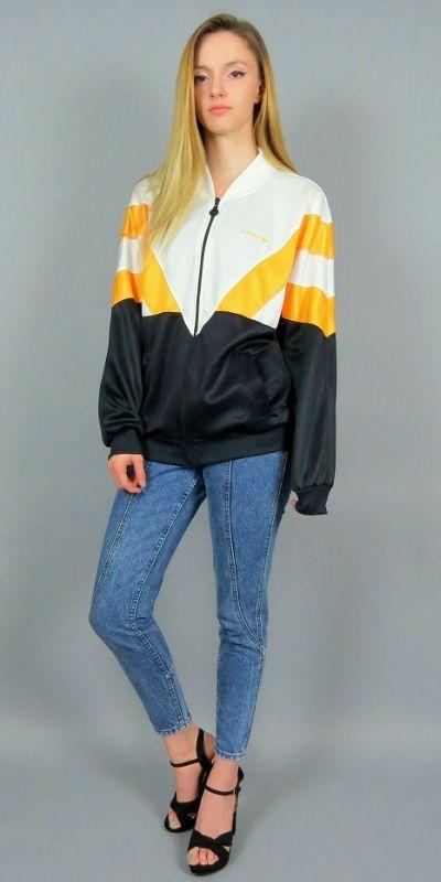 90's Vintage ADIDAS sweatshirt. faded black slocuhy