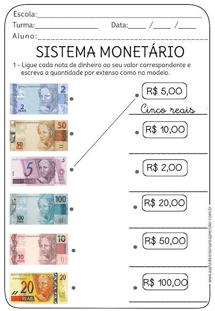 Atividade Pronta Sistema Monetario Atividades De Matematica