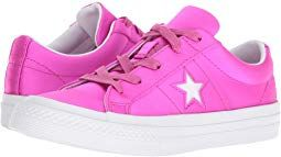 Converse One Star Ox Fashion Sneakers Hyper Magenta//White//White Size 12 Little Kid