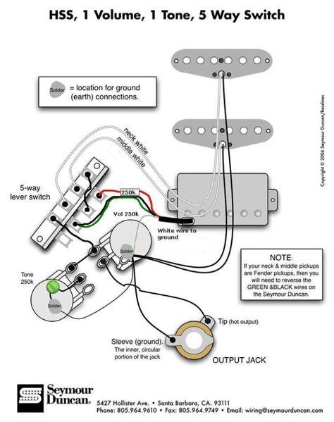 80+ Tone gitar ideas | guitar pickups, guitar tech, guitar diy | Push Pull Switch Guitar Pickups Hss Split Coil Wiring Diagram 1 Vol 1 Tone |  | Pinterest