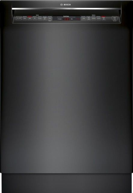 Bosch 800 Series 24 Recessed Handle Dishwasher With Stainless Steel Tub Black Shem78w56n Best Buy Built In Dishwasher Steel Tub Black Dishwasher