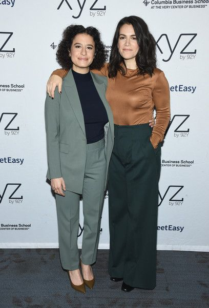 Ilana Glazer and Abbi Jacobson attend a conversation at 92nd Street Y.