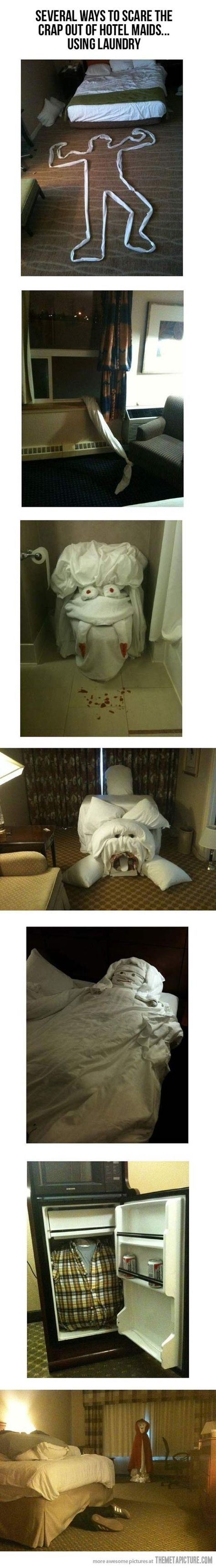 Before leaving your hotel room.. lol.. what the heck...