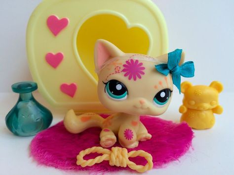 Littlest Pet Shop Cutest Pet Orange Kitten Baby Cat #2414 w