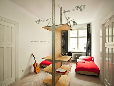 High Quality One Piece Of Plywood Furniture Inside This Polish Apartment Encompasses A  Bed, Bookshelf, Nightstand And Wardrobe | My House | Pinterest | Plywood  Furniture ...