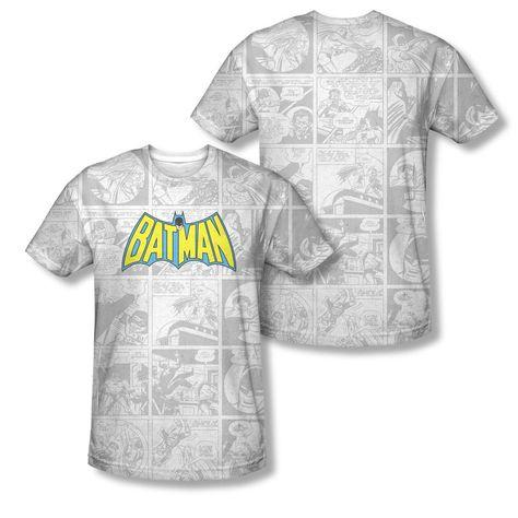 Batman Brooding DC Comics Sublimation Licensed Adult T Shirt