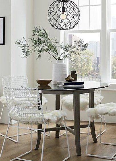 Tig Indoor Outdoor White Metal Dining Chair Reviews Crate And Barrel Metal Dining Chairs Dining Table Centerpiece Dining Chairs