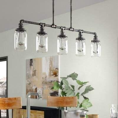 Trent Austin Design Brys Rustic Black 5 Light Kitchen Island Pendant Trent Austin Design Kitchen Island Pendants Kitchen Lighting Kitchen Ceiling Lights