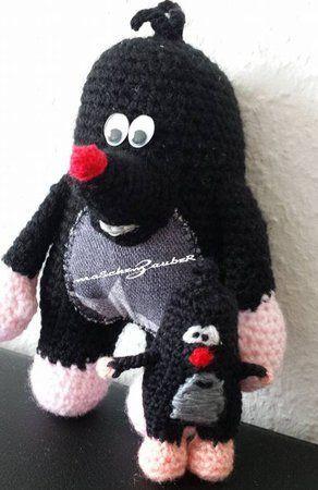 Moser, a crochet mole pattern | Hase häkeln, Schlüsselanhänger ... | 450x292