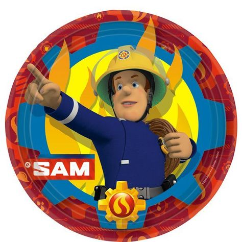 Throw a fun Fireman Sam party Paper party plates Each measures 23cm wide Pack of 8 Everyone's favourite hero from Pontypandy is here to save your
