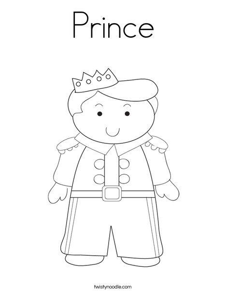 Prince Coloring Page Twisty Noodle Princess Coloring Pages