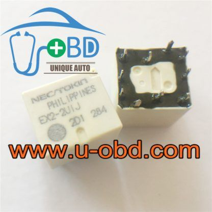 EX2-2U1J Automotive commonly used relays 10 PIN 2 PCS/ lot