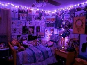 Purple Led Fairy Lights Christmas Lights In Bedroom Grunge Bedroom Room Ideas Bedroom
