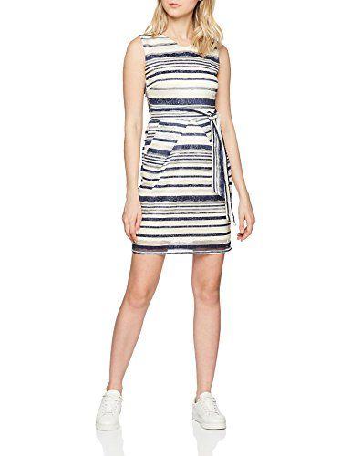 Stripe Lace Marfilcream Mela Mujer Dress Vestido Para 1944 8wXON0PknZ
