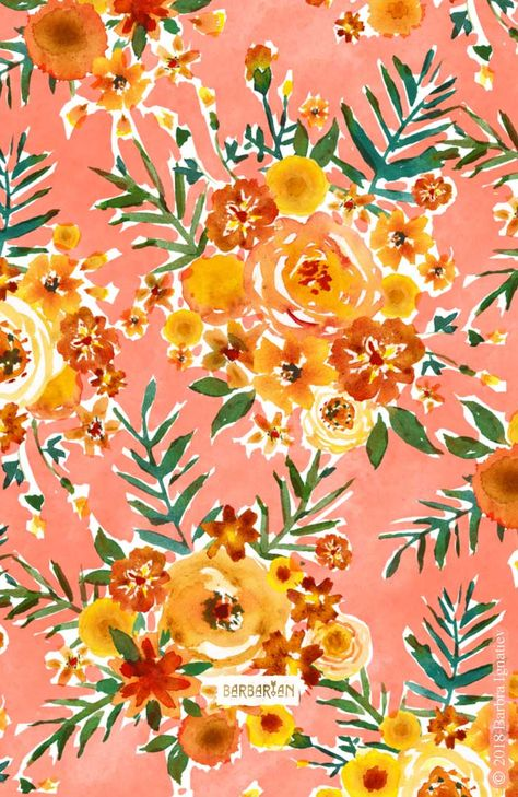 This happy golden floral print is named and inspired by my new little niece, Marigold.