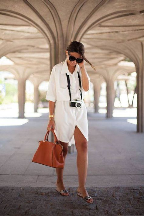 White dress / Street style fashion / fashion week #fashionweek #fashion #womensfashion #streetstyle #ootd #style  / Pinterest: @fromluxewithlove