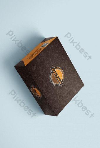 Download Creative Restaurant Packaging Box Mockup Ai Free Download Pikbest Box Mockup Paper Logo Sign Design