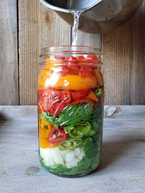 Sweet & Spicy Pepper Fermented Hot Sauce Recipe ~ Homestead and Chill